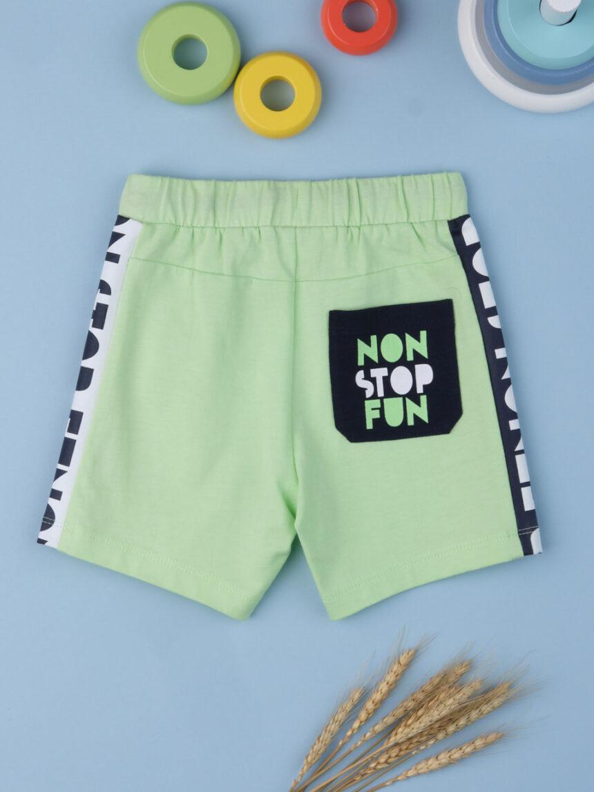 """Shorts menino """"diversão sem parar"""" - Prénatal"""