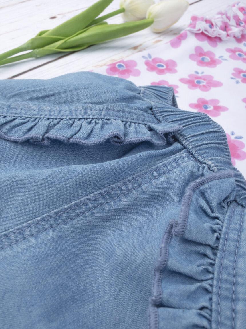 """Shorts femininos completos + top """"flor"""" - Prénatal"""