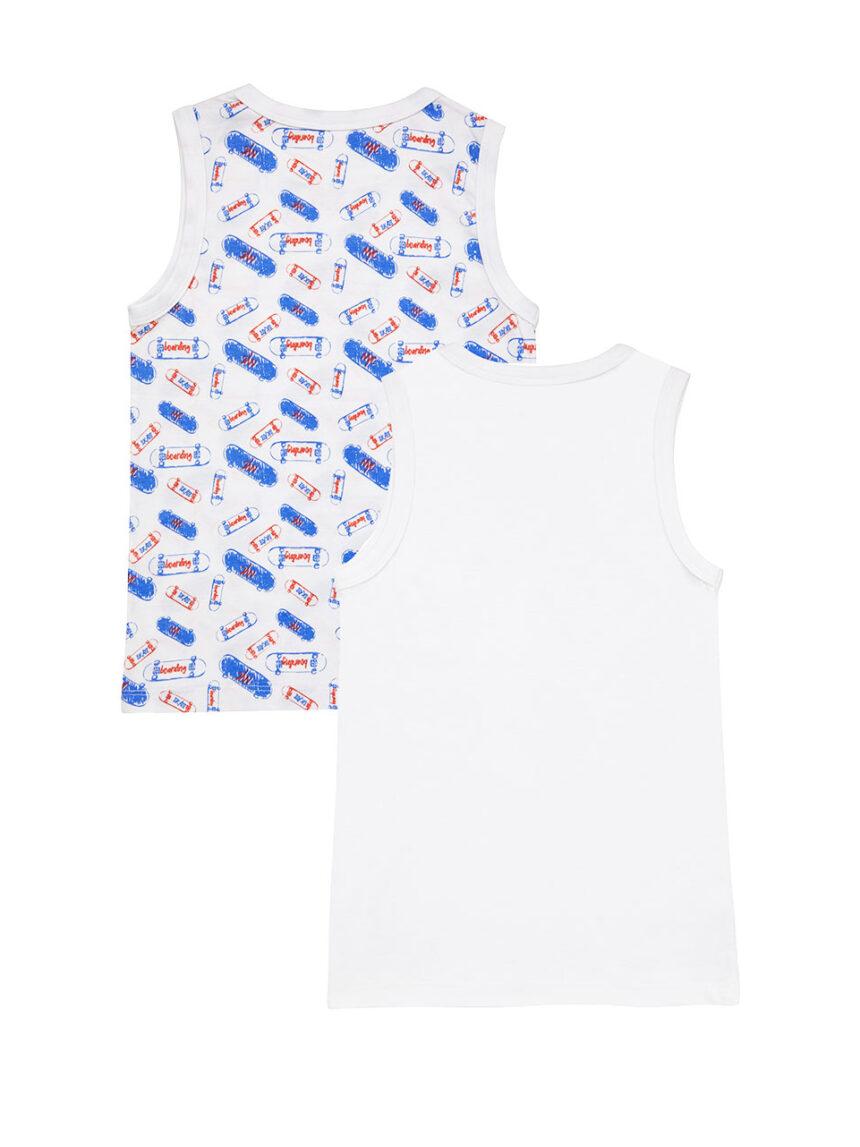 Pacote 2 camisetas regatas estampadas de skate - Prénatal