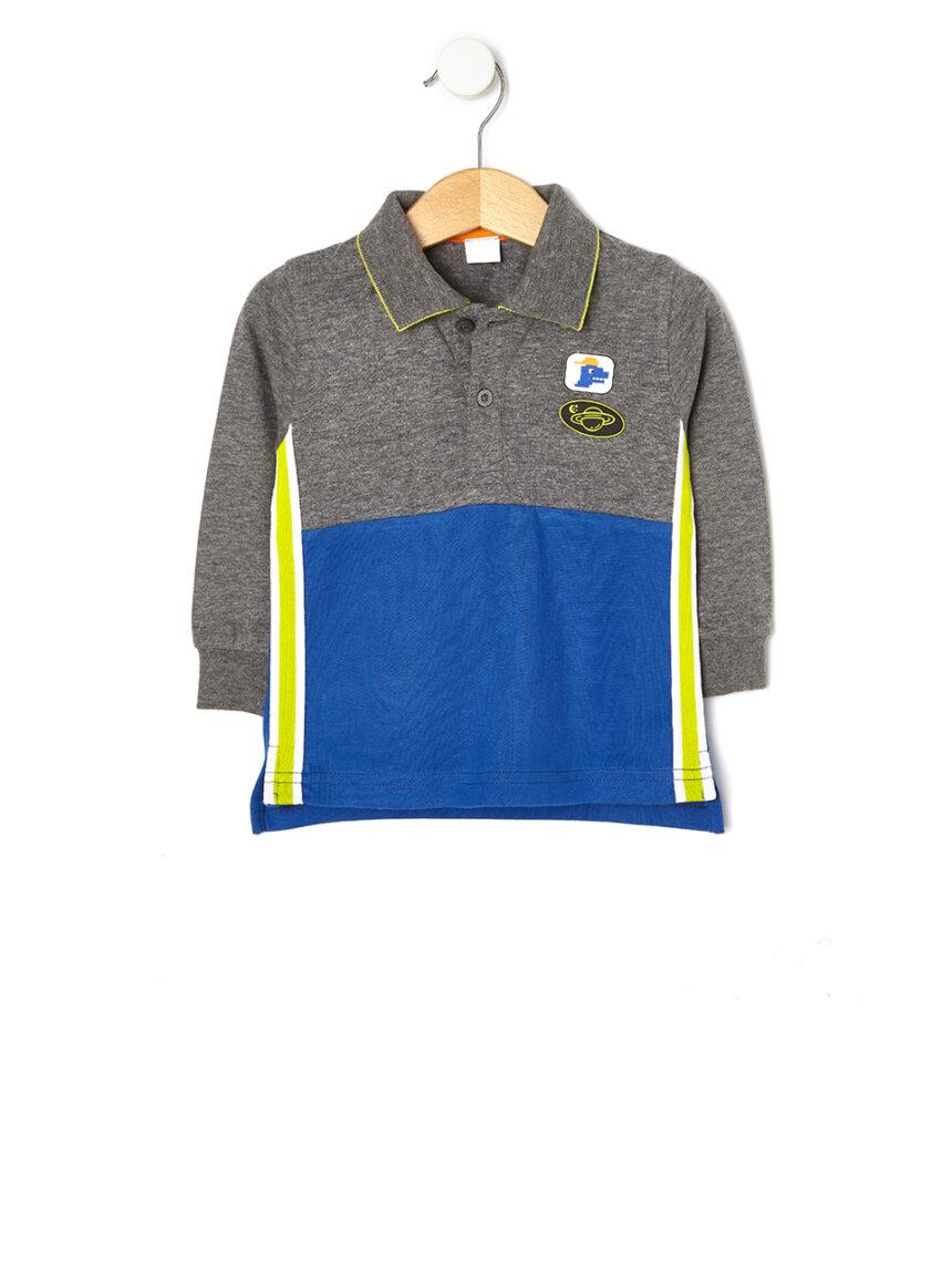 Polo em jersey bicolore - Prénatal