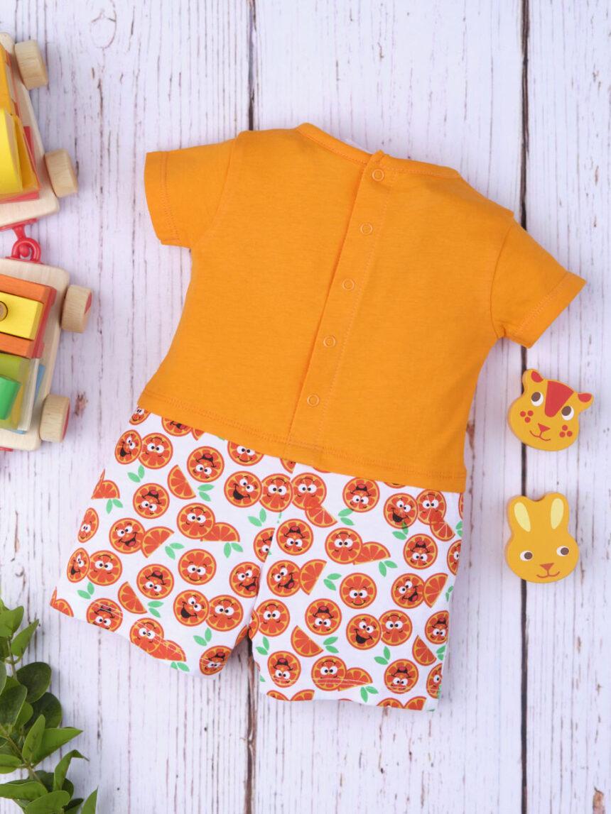 """Macacão de bebê """"laranjas"""" - Prénatal"""