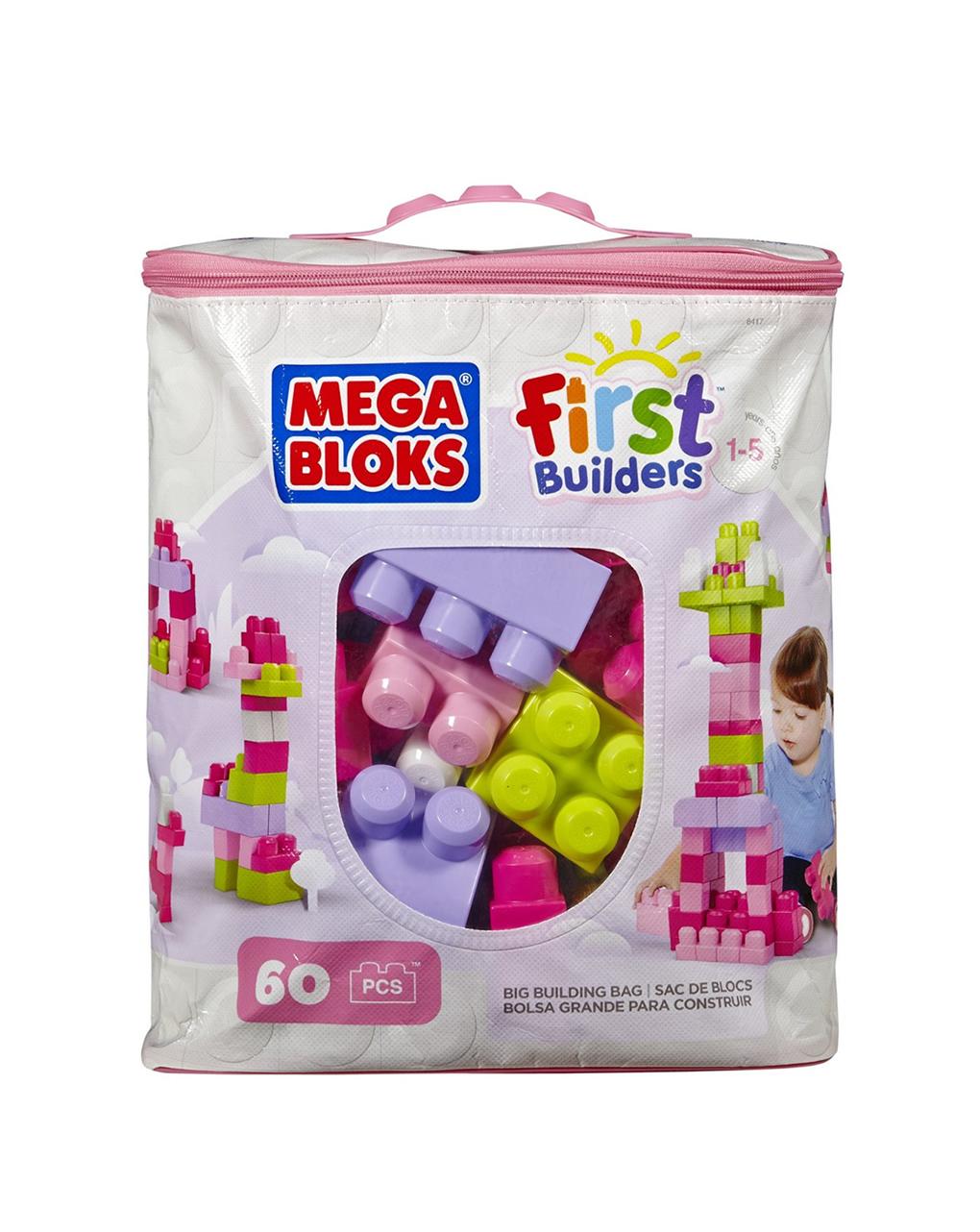 Mega bloks - bio bag 60 blocos de construção - Mega bloks