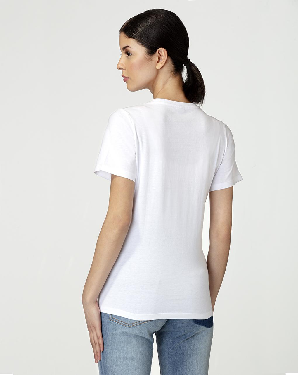 Camiseta maternidade com estampa de glitter - Prénatal