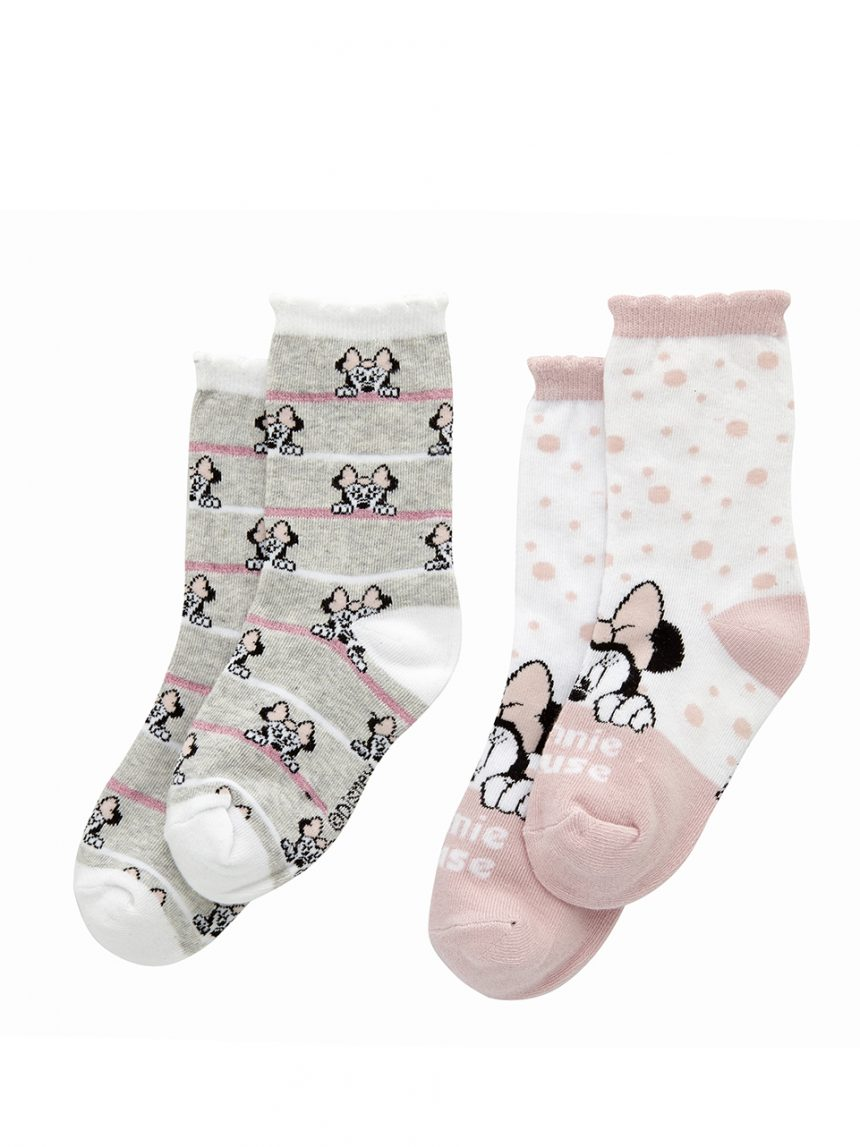Pacote de 2 pares de meias minnie até o joelho - Prénatal