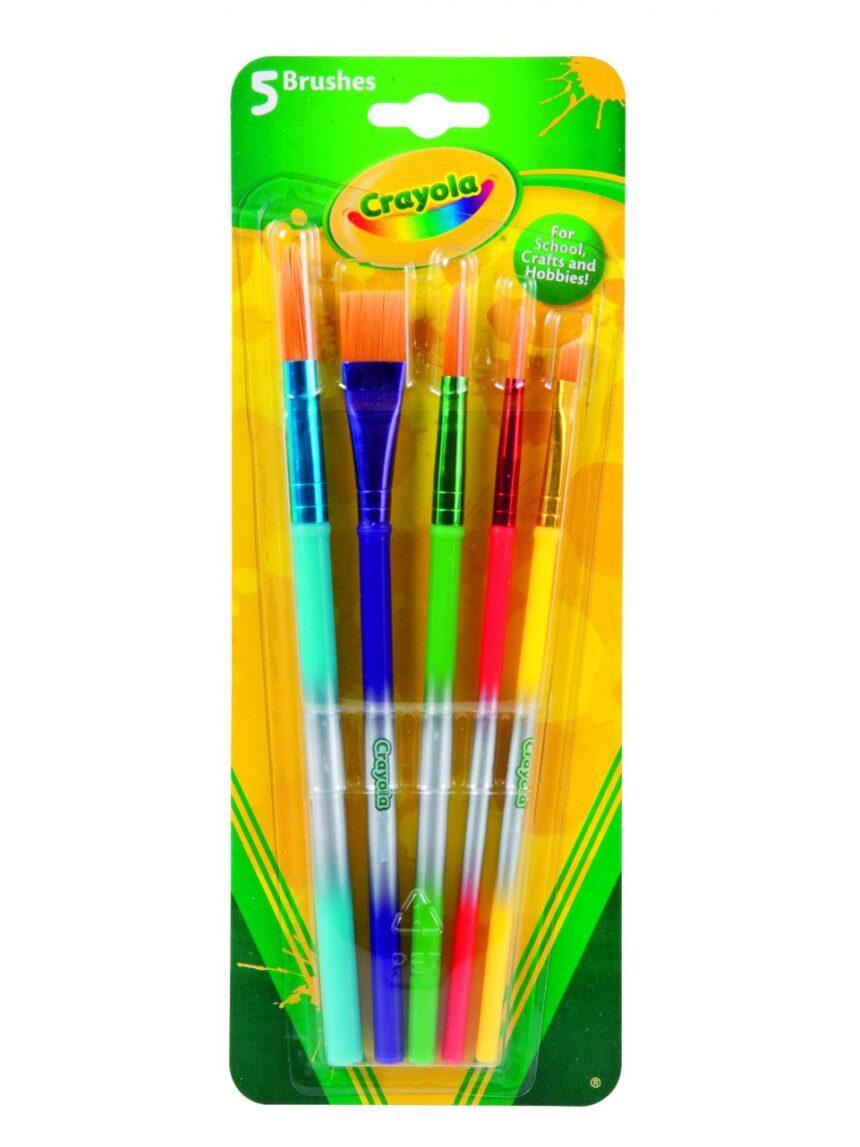 Crayola - 5 pincéis sortidos - Crayola