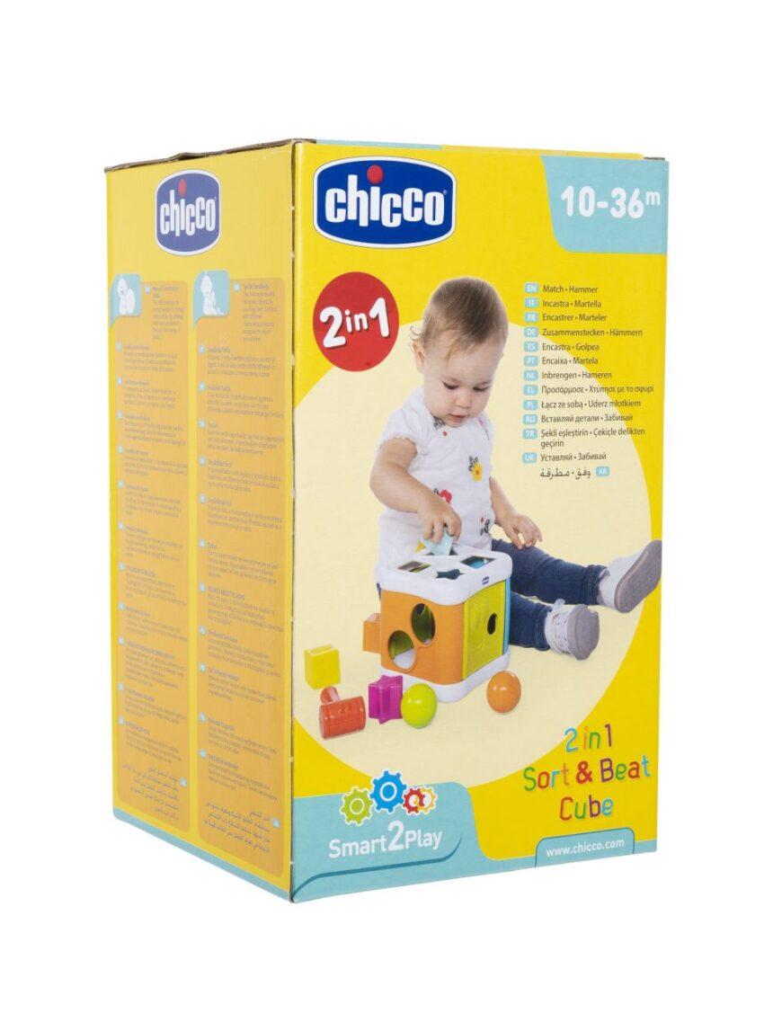 Chicco - formas interligadas 2 em 1 inserto e cubo de martelo - Chicco