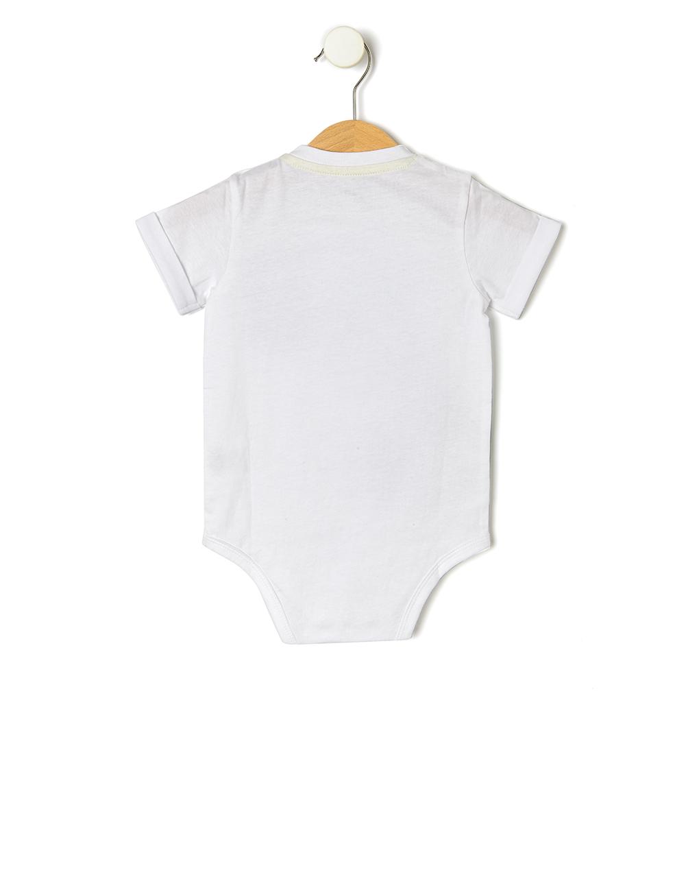 Body de algodão meia manga - Prénatal