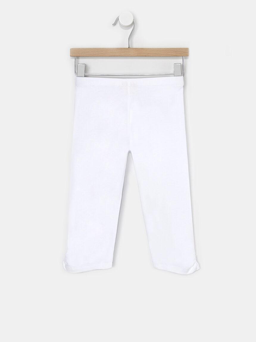 Leggings 3/4 brancas sólidas básicas - Prénatal