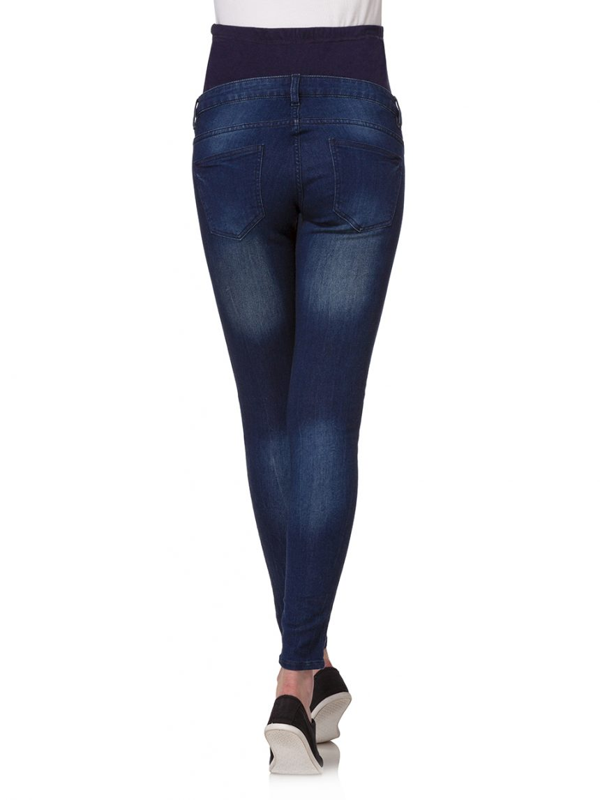 Calça justa em denim azul escuro - Prénatal