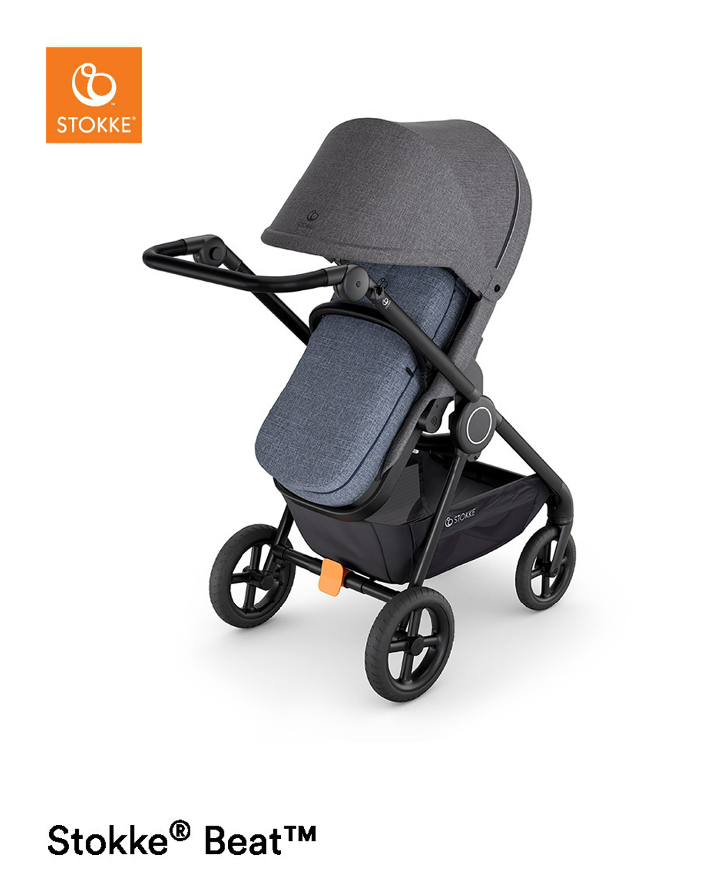 Softbag para carrinho de criança stokke® blue melange - Stokke