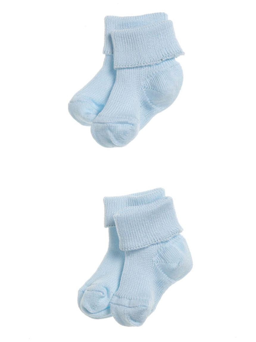 Pacote de 2 meias azuis claras para bebês prematuros - Prénatal