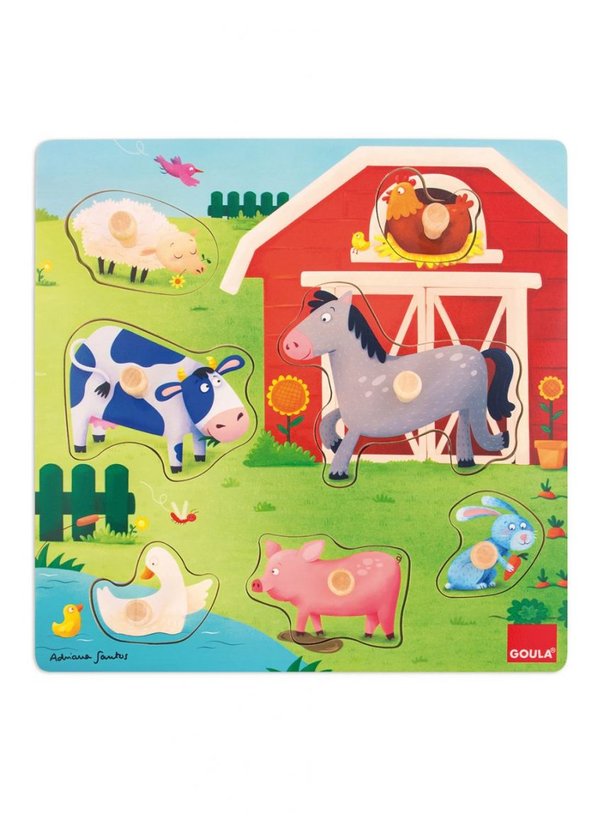 Goula - quebra-cabeça da fazenda para mães e bebês - Goula