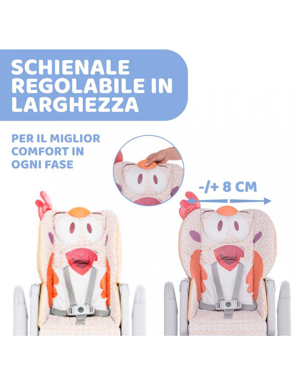 Cadeira alta chicco polly2start frango chique - Chicco