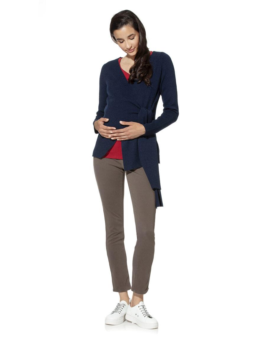 Cardigã tricot cruzado para maternidade - Prénatal
