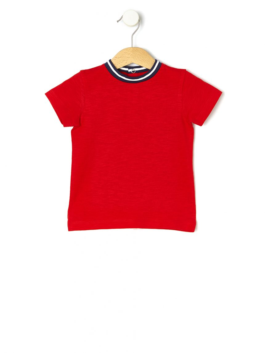 Camiseta em cotone slub - Prénatal