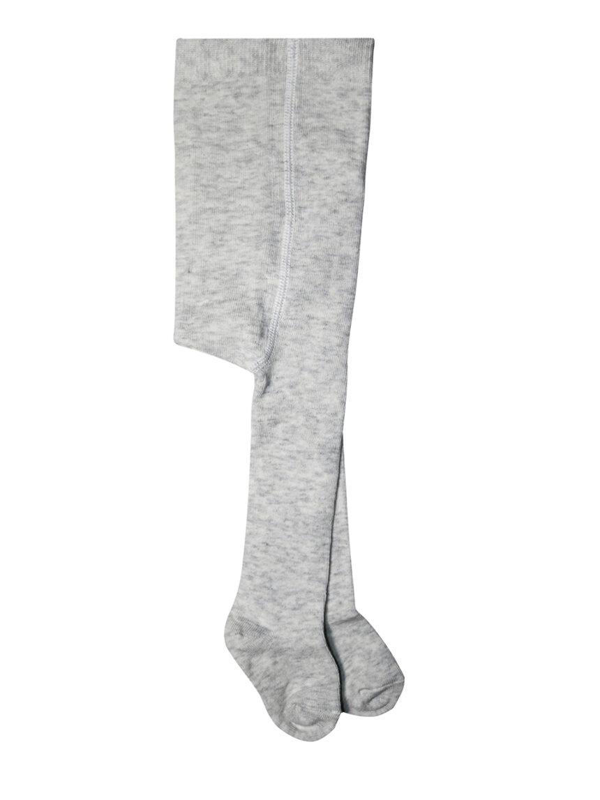 Collants de algodão mélange cinza claro - Prénatal