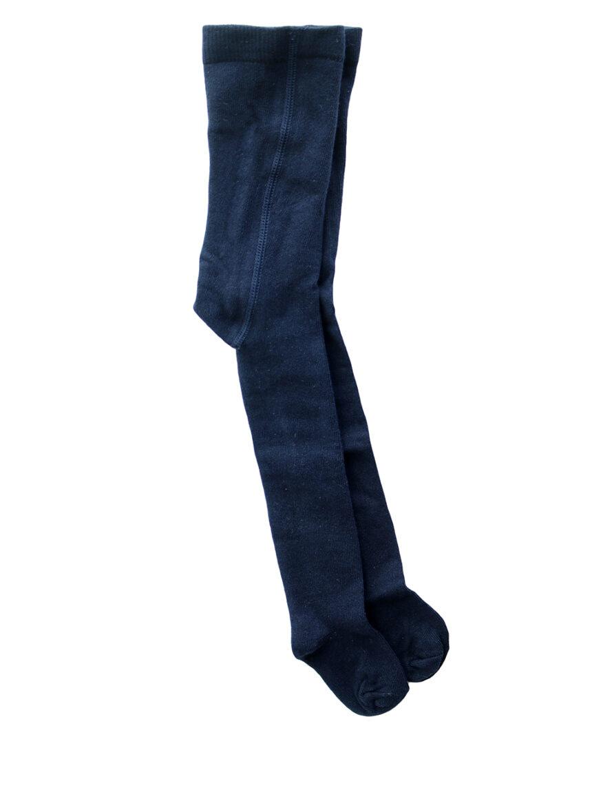 Meia-calça de algodão azul - Prénatal