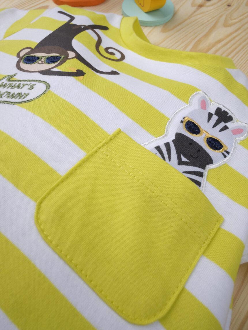 Macacão de bebê da gangue da selva - Prénatal