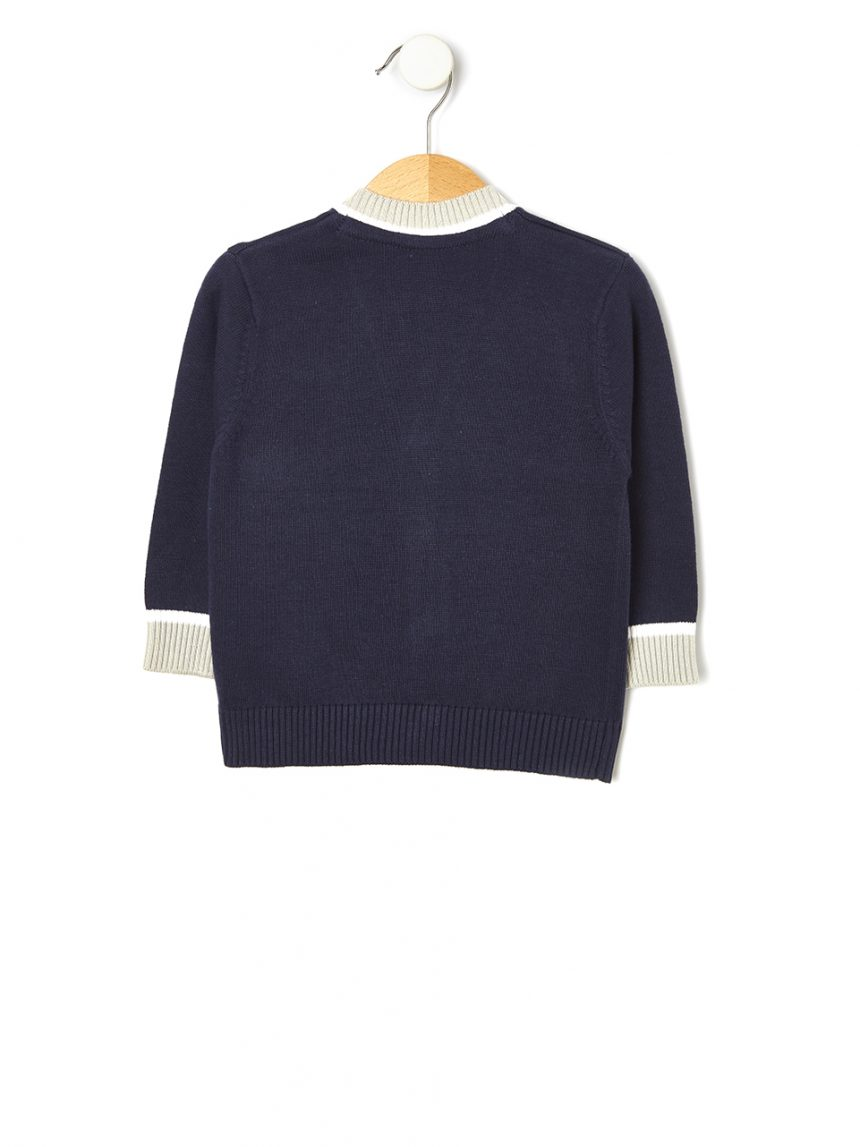 Cardigã tricot com bordado - Prénatal