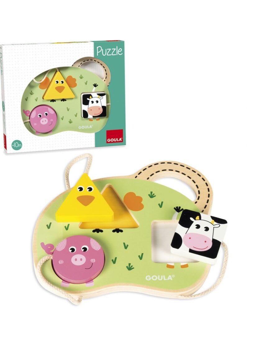Goula - quebra-cabeça de 3 animais de fazenda - Goula