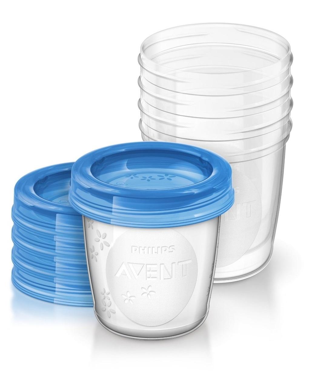 Frascos via 180 ml com tampa 5 pcs - Avent
