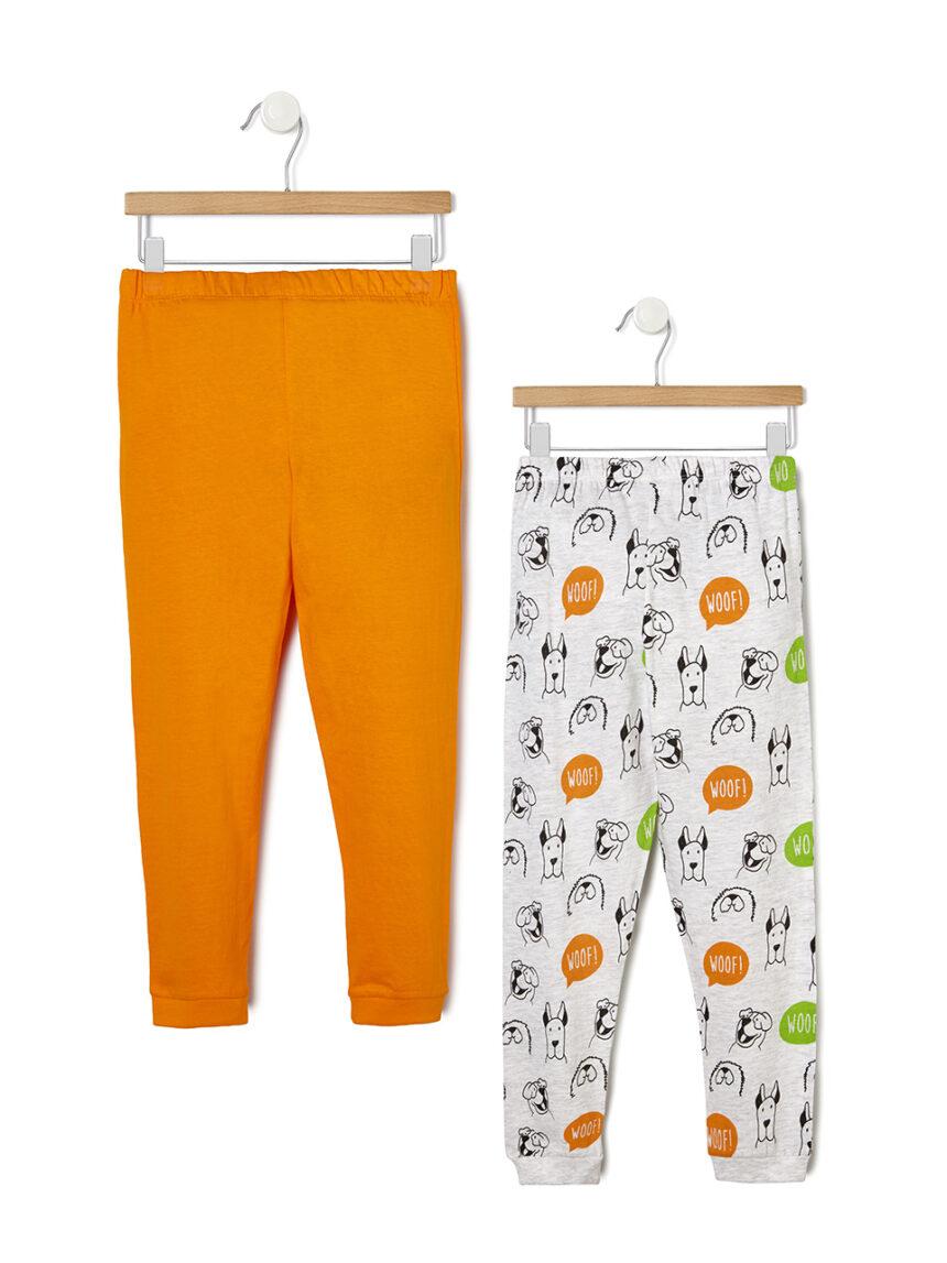 Pacote de 2 pijamas com estampa de cachorro - Prénatal