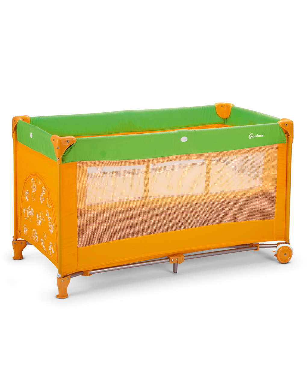 Espreguiçadeira dupla laranja / verde - Giordani