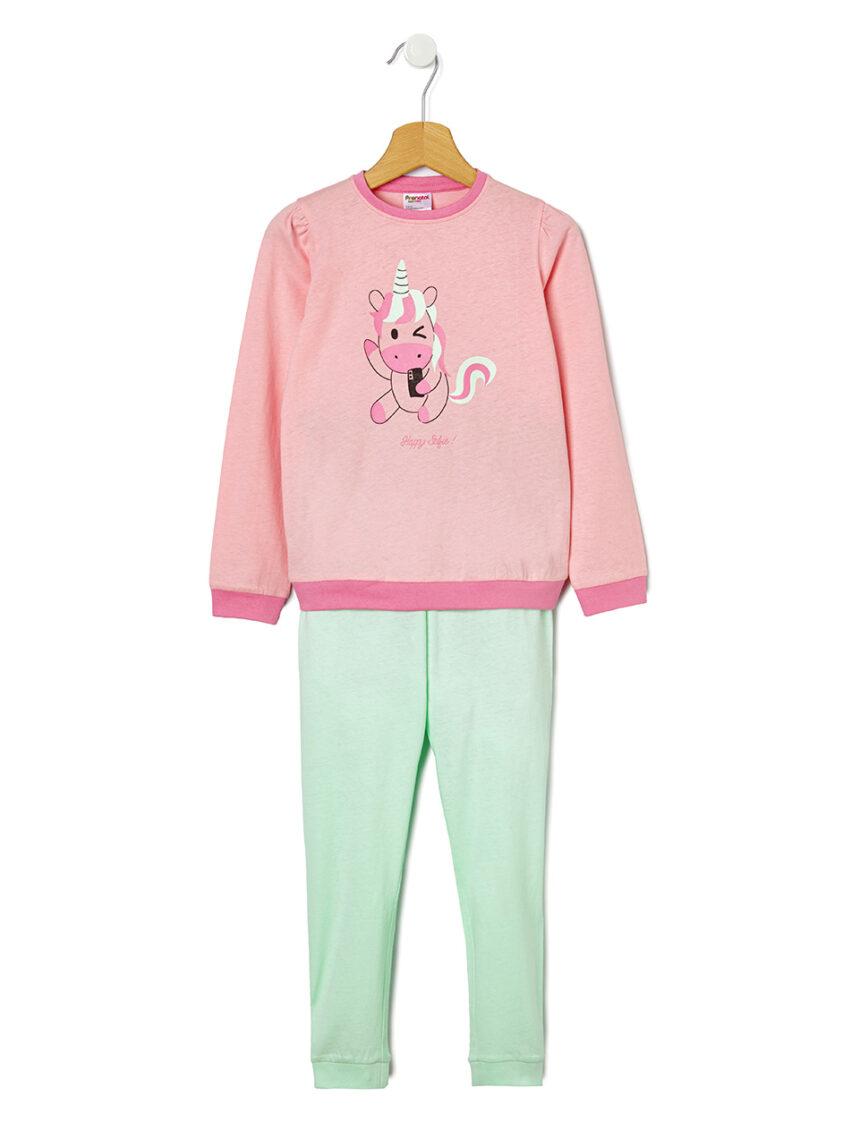 Pijama de 2 peças com estampa de unicórnio - Prénatal