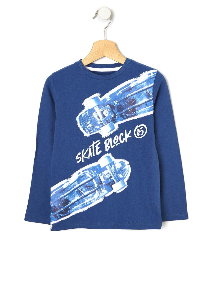 Camiseta com estampa maxi skate - Prénatal