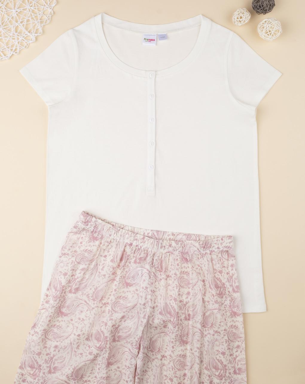 Camiseta de pijama branco mix & match - Prénatal