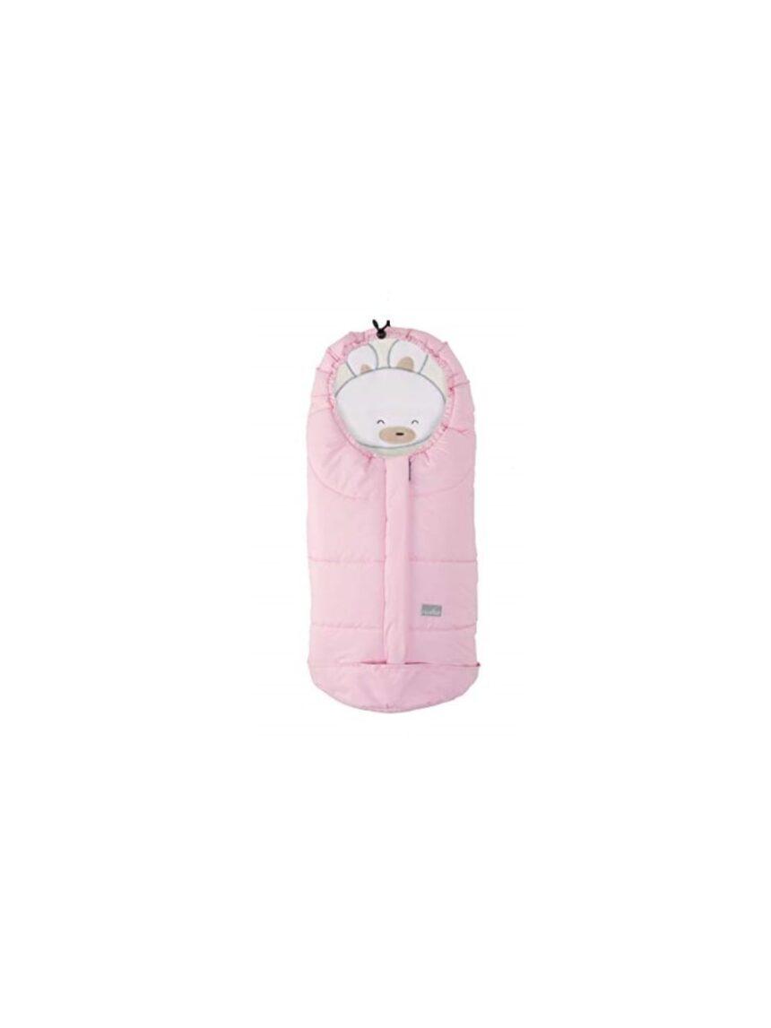 Sac gr0 + filhotes coelho rosa bege - Nuvita