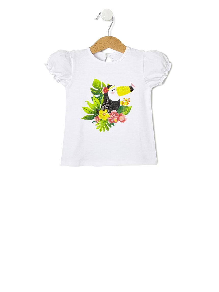 Camiseta com estampa de tucano - Prénatal