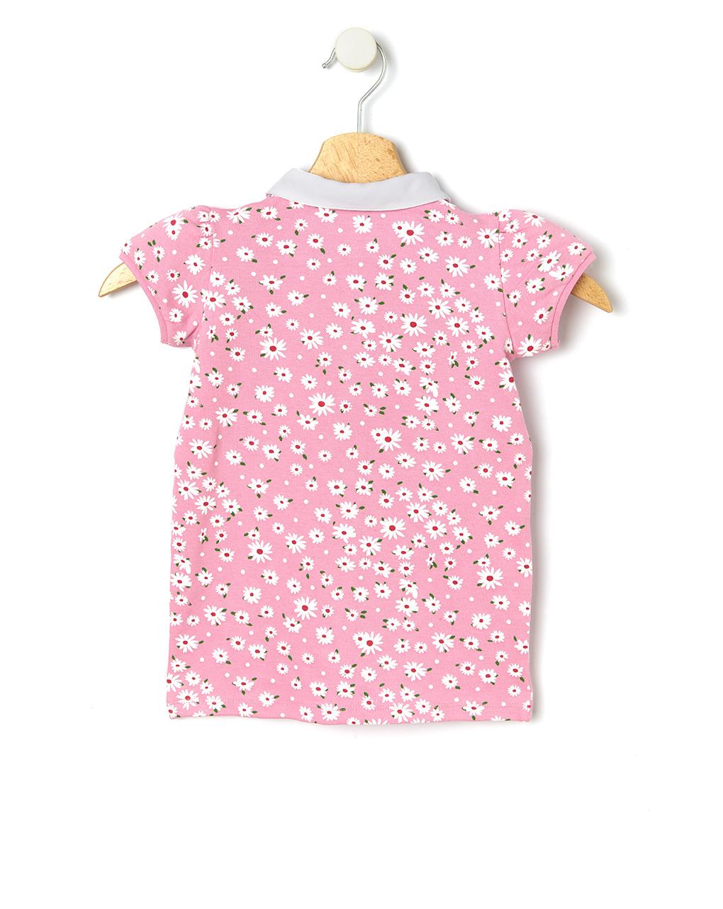 Camisa pólo com estampado de flores em toda a extensão - Prénatal