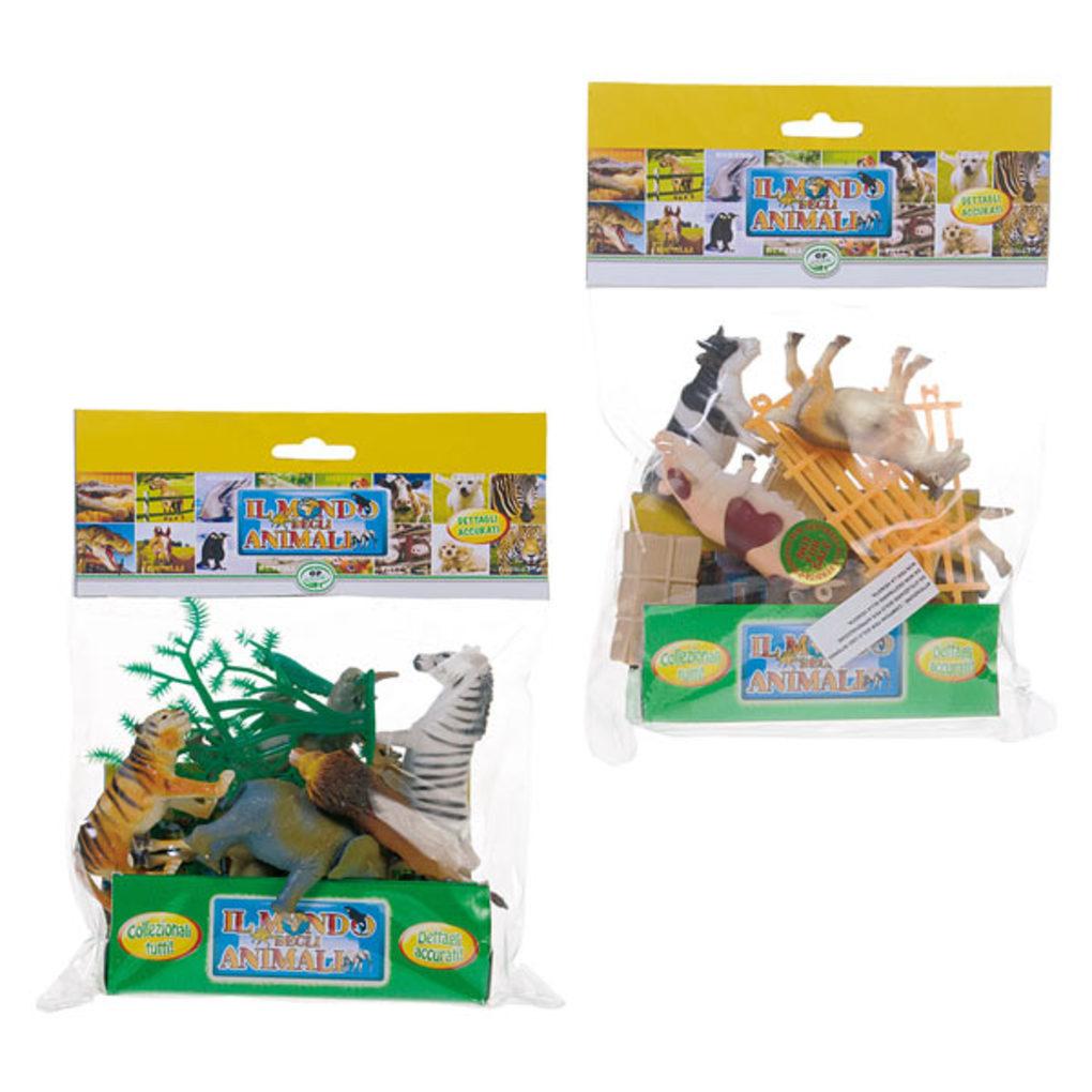 Pequeno envelope 10 farm anim - Animal World