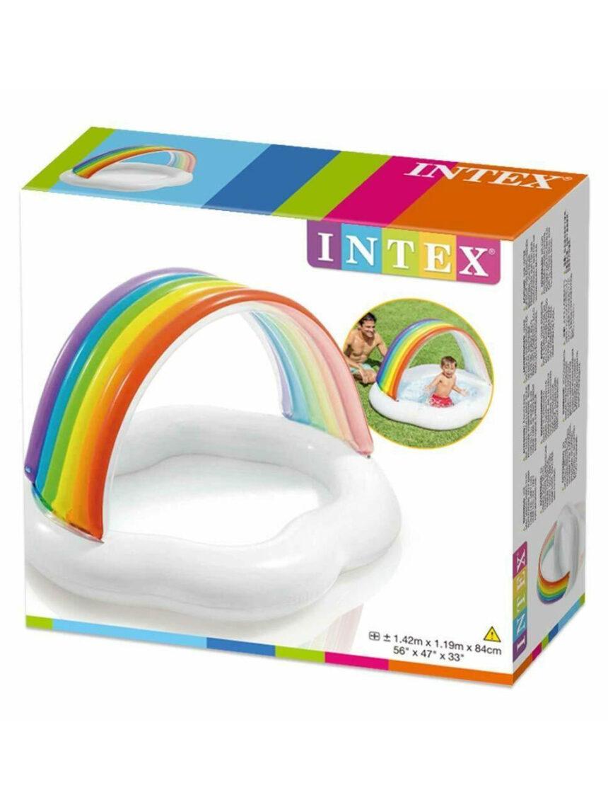 Intex - piscina infantil arco-íris 142x119 cm - Intex
