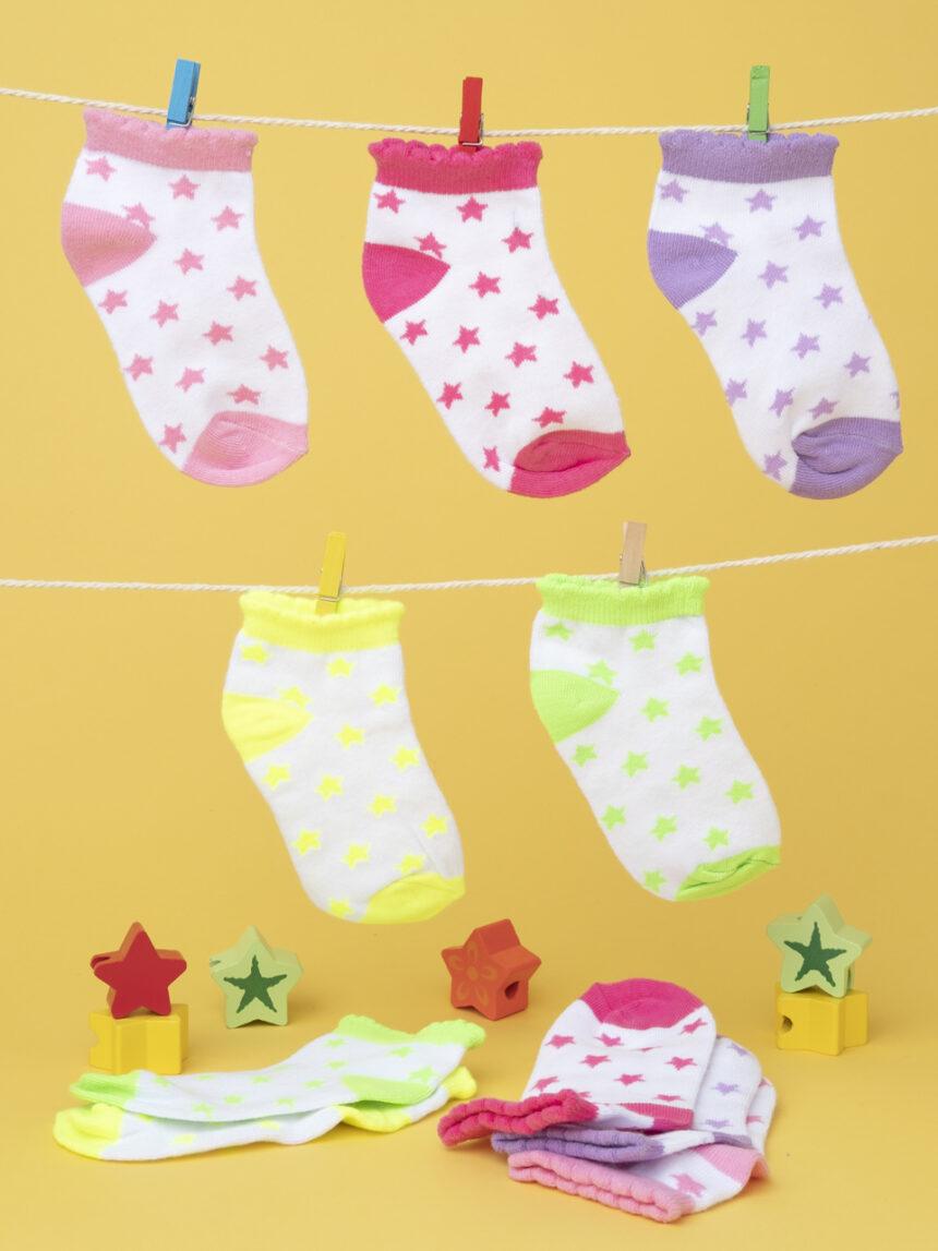 Pacote 5 calze girl multicolor - Prénatal