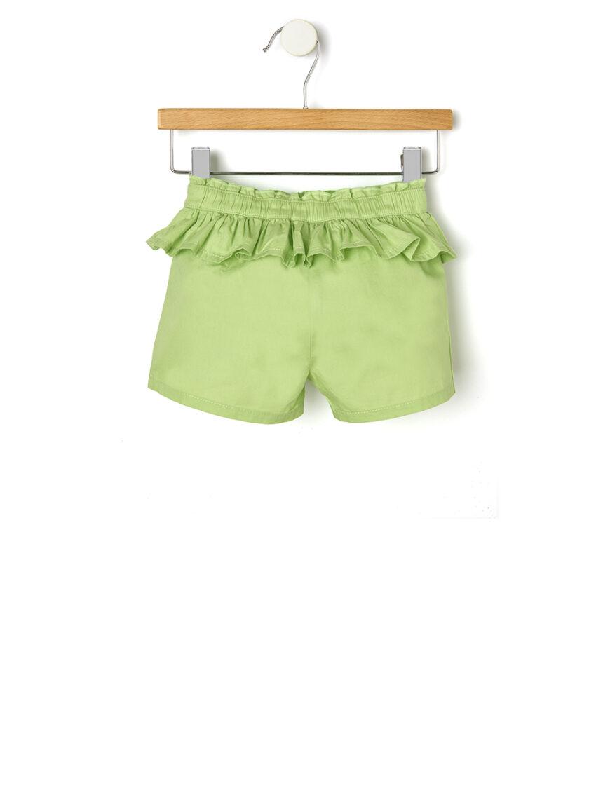 Shorts de popeline com rouches - Prénatal