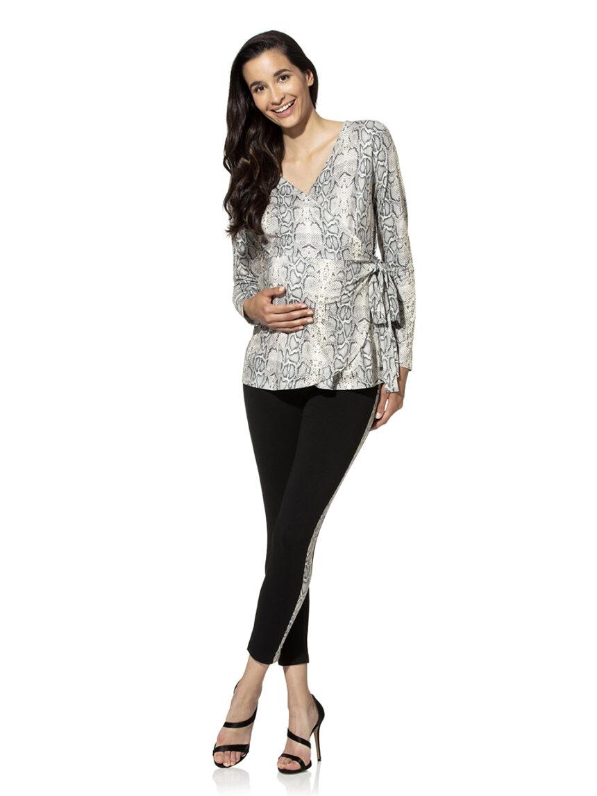 Perneiras de maternidade com faixas mais animadas - Prénatal
