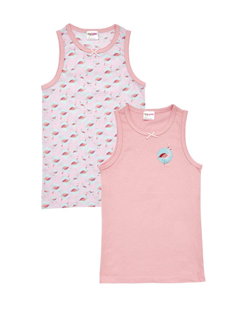 Pacote de 2 tops com estampa de flamingo - Prénatal