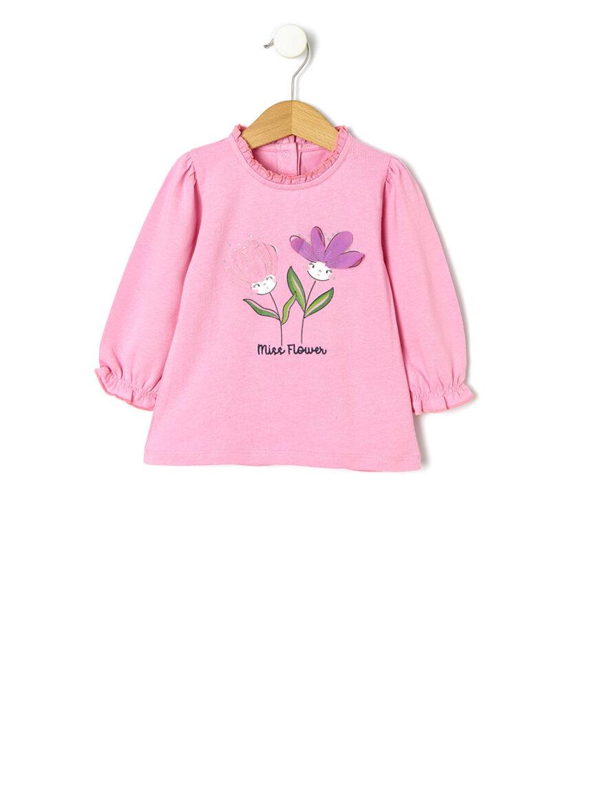 Camiseta de malha com estampa floral - Prénatal