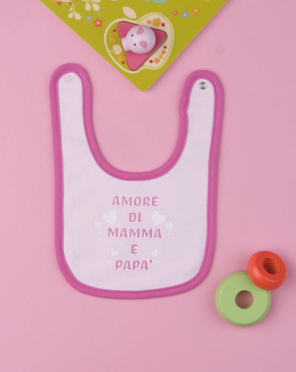 """Babador de bebê """"amor de mamãe e papai"""" - Prénatal"""