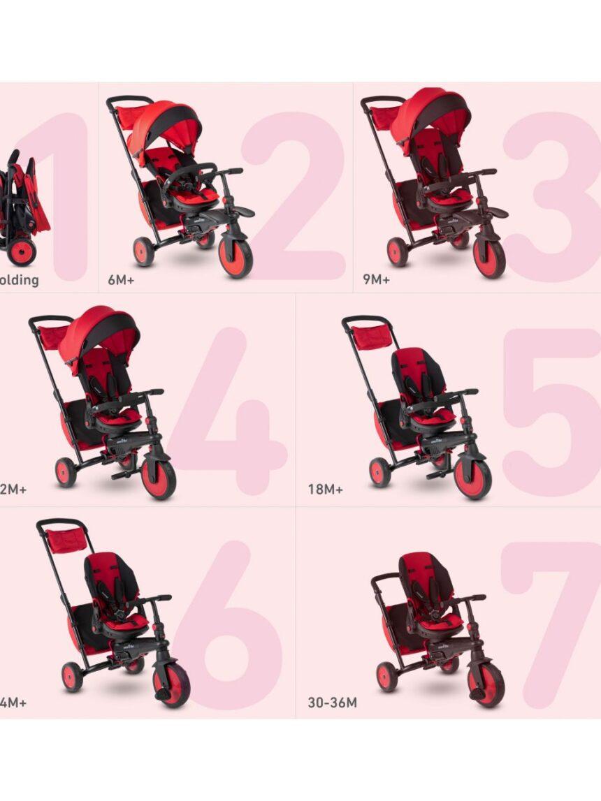 Trike inteligente str7 - 7 em 1 rosso - SmarTrike