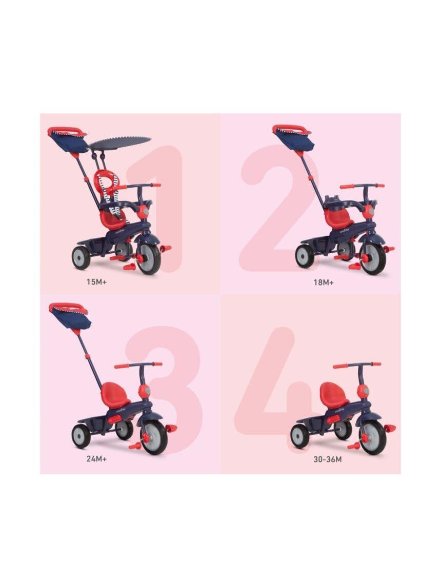 Trike inteligente vermelho baunilha e marinho - SmarTrike