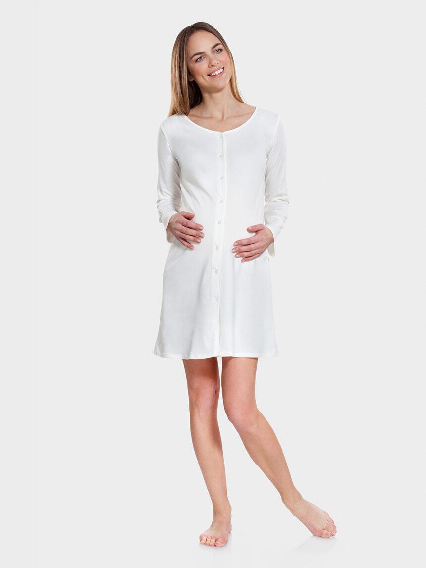 Camisa branca aberta com mangas compridas - Prénatal