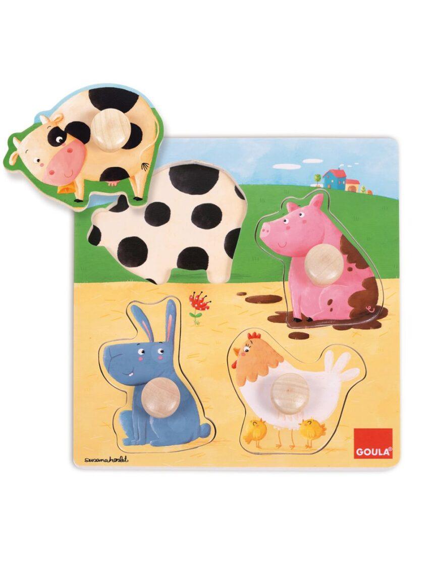Goula - quebra-cabeça de animais de fazenda coloridos - Goula