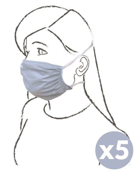 Máscara lavável de adulto para uso civil 5 peças - italbaby