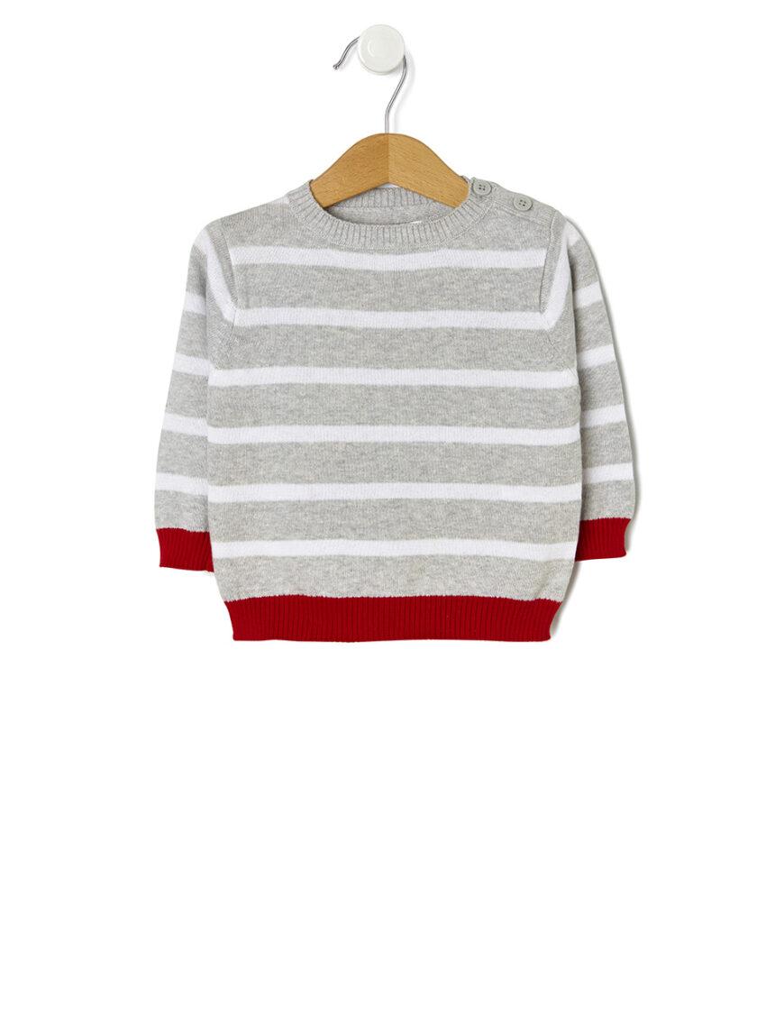 Suéter de tricô listrado - Prénatal