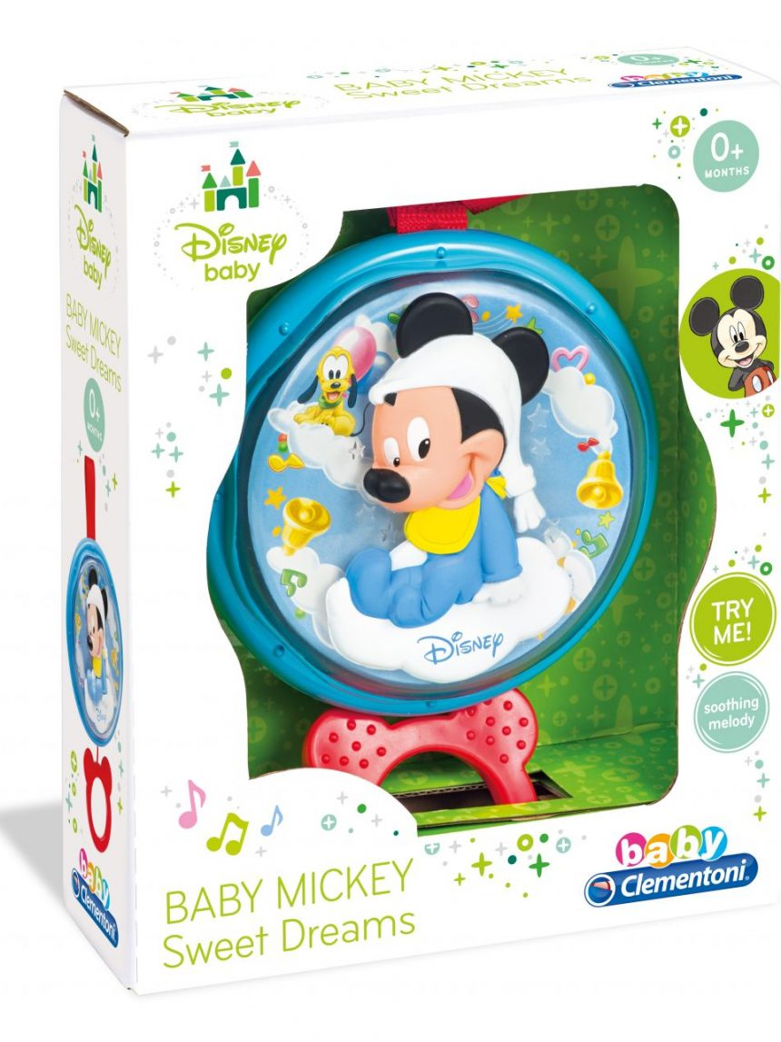 Bebê disney - caixa de música doce noite do mickey mouse - Clementoni