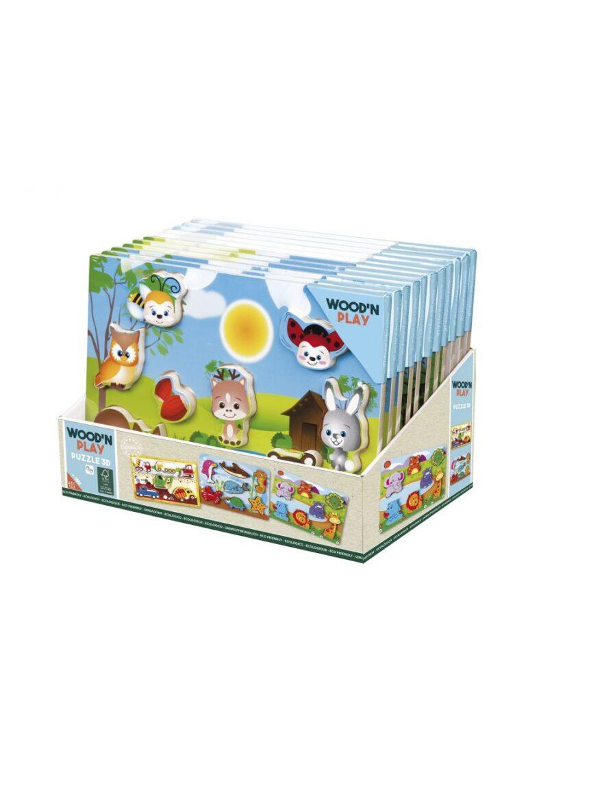 Wood'n'play - quebra-cabeça 3d - Wood'N'Play