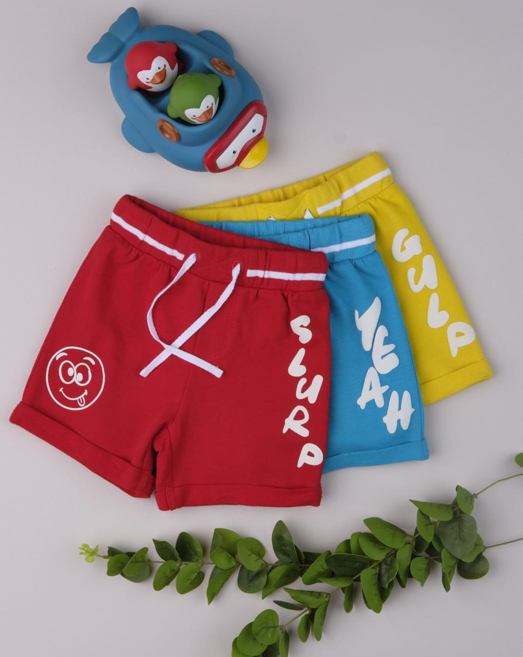 "Shorts menino ""sim azul"" - Prénatal"